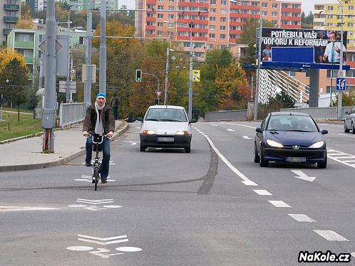 Piktogramový koridor pro cyklisty
